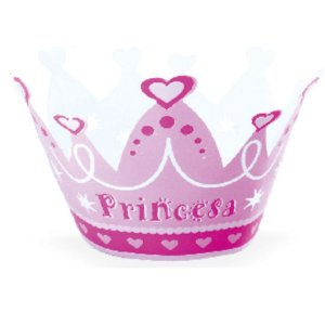 Wrapper Cupcake Tradicional - Princesa - 5cm x 22cm - 12 unidades - Nc Toys - Rizzo Embalagens