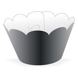 Wrapper Cupcake Tradicional - Preto - 5cm x 22cm - 12 unidades - Nc Toys - Rizzo Embalagens
