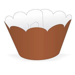 Wrapper Cupcake Tradicional - Marrom - 5cm x 22cm - 12 unidades - Nc Toys - Rizzo Embalagens