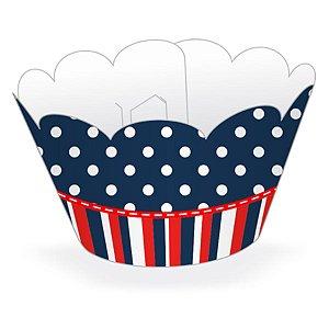 Wrapper Cupcake Tradicional - Marinheiro - 5cm x 22cm - 12 unidades - Nc Toys - Rizzo Embalagens
