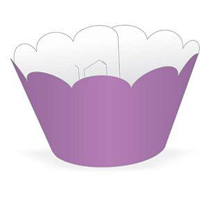 Wrapper Cupcake Tradicional - Lilás - 5cm x 22cm - 12 unidades - Nc Toys - Rizzo Embalagens