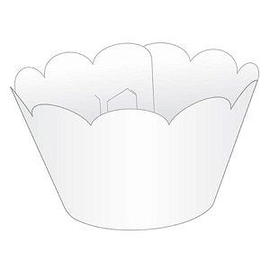 Wrapper Cupcake Tradicional - Branco - 5cm x 22cm - 12 unidades - Nc Toys - Rizzo Embalagens