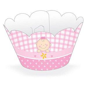 Wrapper Cupcake Tradicional - Baby Rosa - 5cm x 22cm - 12 unidades - Nc Toys - Rizzo Embalagens