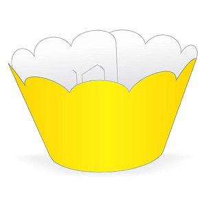 Wrapper Cupcake Tradicional - Amarelo - 5cm x 22cm - 12 unidades - Nc Toys