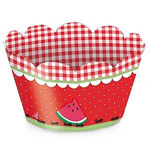 Forminha Wrap p Cupcake Festa Pic Nic - 12 unidades - Cromus - Rizzo Festas