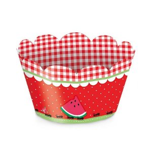 Forminha Mini Wrap p Cupcake Festa Pic Nic - 12 unidades - Cromus - Rizzo Festas