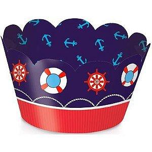 Wrap p Cupcake Festa Marinheiro - 12 unidades - Cromus - Rizzo Festas
