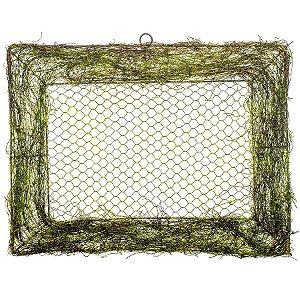 Tela com Moldura Retangular Verde Rústico - 30cm x 40m - Linha Rustic - Cromus Páscoa Rizzo Embalagens