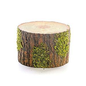 Tronco Decorativo Rústico - P 25cm x 15cm - Linha Rustic - Cromus Páscoa Rizzo Embalagens