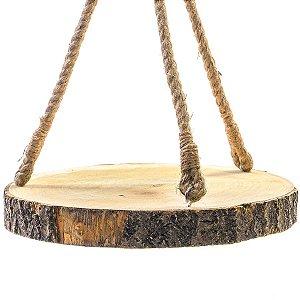 Balanço Tronco de Madeira para Pendurar Decoração de Páscoa Rústica - G 44cm - Cromus Páscoa Rizzo Embalagens