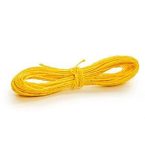 Fio Decorativo de Papel Torcido Amarelo - 2mm x 20 metros - Cromus Páscoa - Rizzo Embalagens