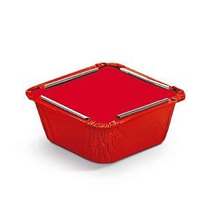 Marmitinha Liso Vermelho P 5,5x5,5x3cm - 12 unidades - Cromus - Rizzo Embalagens