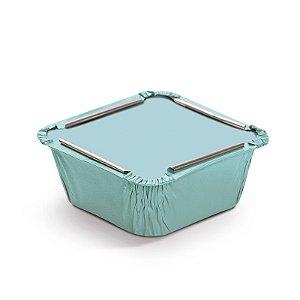 Marmitinha Liso Azul P 5,5x5,5x3cm - 12 unidades - Cromus - Rizzo Embalagens