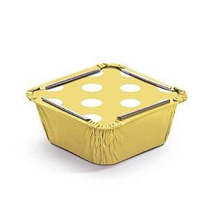 Marmitinha Poá Amarelo P 5,5x5,5x3cm - 12 unidades - Cromus - Rizzo Embalagens
