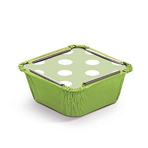 Marmitinha Poá Verde P 5,5x5,5x3cm - 12 unidades - Cromus - Rizzo Embalagens
