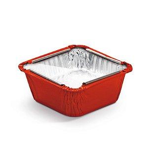 Marmitinha Vermelho Tampa de Acetato P 5,5x5,5x3cm - 12 unidades - Cromus - Rizzo Embalagens