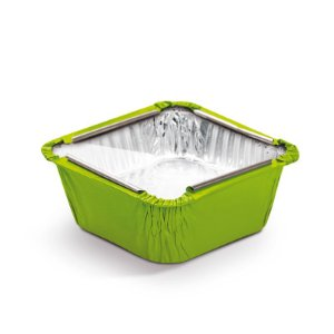 Marmitinha Verde Tampa de Acetato P 5,5x5,5x3cm - 12 unidades - Cromus - Rizzo Embalagens