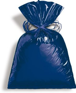Saco Metalizado Azul Intenso15x29cm - 50 unidades - Cromus - Rizzo Embalagens