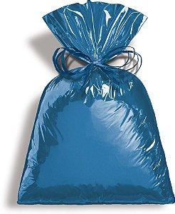 Saco Metalizado Azul 50x70cm - 25 unidades - Cromus - Rizzo Embalagens
