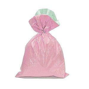 Saco Soft Color Rosa 45x59cm - 25 unidades - Cromus - Rizzo Embalagens