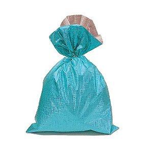 Saco Soft Color Turquesa 50x70cm - 25 unidades - Cromus - Rizzo Embalagens