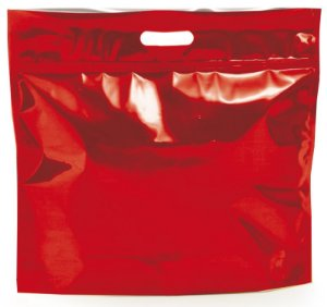 Sacola Metalizada com Zip P 46x43x5cm Vermelho - 01 unidade - Cromus - Rizzo Embalagens