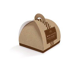 Caixa Valise para 4 doces 8,5x8,5x7cm Brigadeiro Gourmet Clássico - 10 unidades - Cromus - Rizzo Embalagens