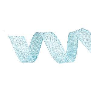 Fita de Juta Aramada Azul para Decoração de Páscoa  - 3cm x 9,14m - Cromus Páscoa - Rizzo Embalagens