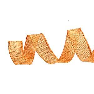 Fita de Juta Aramada Laranja para Decoração de Páscoa  - 3cm x 9,14m - Cromus Páscoa - Rizzo Embalagens