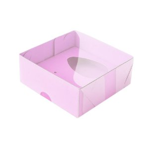 Caixa Ovo de Colher - Meio Ovo de 50g - 10cm x 10cm x 4cm - Rosa - 5unidades - Assk - Páscoa Rizzo Embalagens