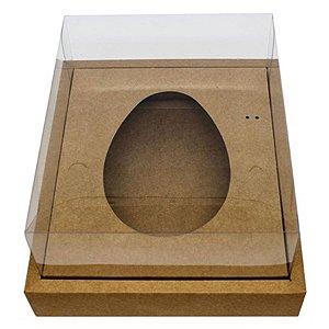 Caixa Ovo de Colher com Moldura - Meio Ovo de 500g - 23cm x 19cm x 10cm - Kraft - 5unidades - Assk - Páscoa Rizzo Embalagens
