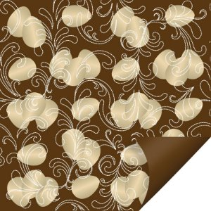 Folha para Ovos de Páscoa Double Face Ovos de Ouro Marrom 69x89cm - 05 unidades - Cromus Páscoa - Rizzo Embalagens