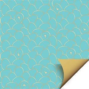 Folha para Ovos de Páscoa Double Face Astral Azul 69x89cm - 05 unidades - Cromus Páscoa - Rizzo Embalagens
