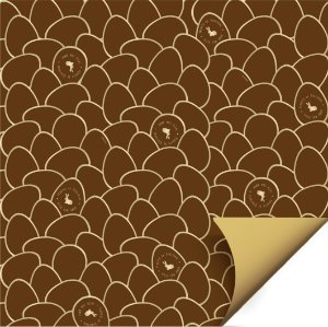 Folha para Ovos de Páscoa Double Face Astral Marrom 69x89cm - 05 unidades - Cromus Páscoa - Rizzo Embalagens