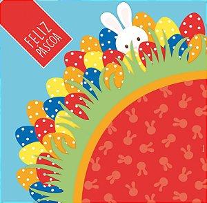 Saco Express 24x24cm para Ovos de 100g a 150g - Pic Esconde Vermelho - 05 unidades - Cromus Páscoa - Rizzo Embalagens