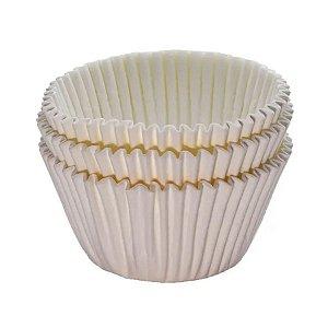 Forminha Forneável Mini Cupcake Nº 2 (2,5cm x 4cm) Natural - 45 unidades - Mago - Rizzo Embalagens
