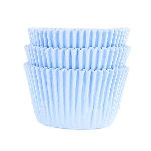Forminha Forneável Mini Cupcake Nº 2 (2,5cm x 4cm) Azul Bebê - 45 unidades - Mago - Rizzo Embalagens