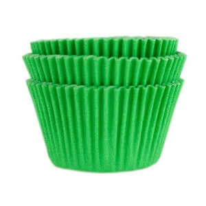 Forminha Forneável Mini Cupcake Nº 2 (2,5cm x 4cm) Verde Bandeira - 45 unidades - Mago - Rizzo Embalagens