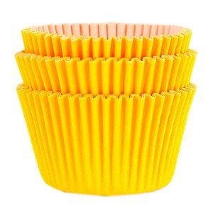 Forminha Forneável Cupcake Nº 0 (4cm x 5cm) Amarela - 45 unidades - Mago - Rizzo Embalagens