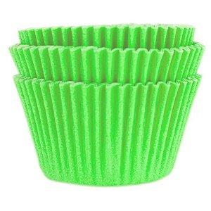 Forminha Forneável Cupcake Nº 0 (4cm x 5cm) Verde Limão - 45 unidades - Mago - Rizzo Embalagens