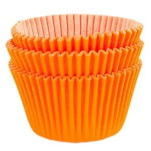 Forminha Forneável Cupcake Nº 0 (4cm x 5cm) Laranja - 45 unidades - Mago - Rizzo Embalagens