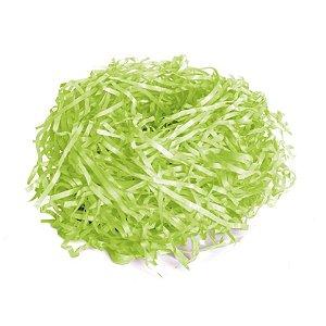 Palha de Seda Decorativa Verde Limão - 01 pacote 50g - Cromus Páscoa - Rizzo Embalagens