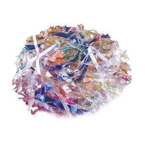 Palha de Celofane Decorativa Mista Transparente - 01 pacote 100g - Cromus Páscoa - Rizzo Embalagens