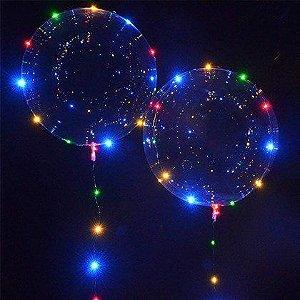 Balão Bubble com Led Colorido - 01 unidade - Rizzo Festas