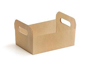 Caixote de Papel Cartão Pardo M - 01 unidade - Cromus Páscoa - Rizzo Embalagens