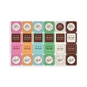 Cartela Adesiva Chocolatier - 02 unidades - Cromus Páscoa - Rizzo Embalagens