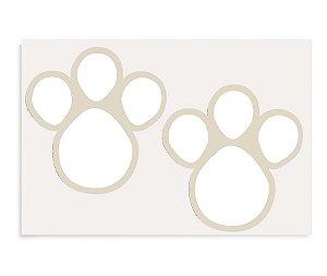 Cartela Adesiva Pegadas Branco GG - 02 unidades - Cromus Páscoa - Rizzo Embalagens