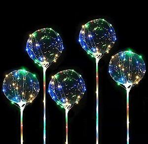 Balão Bubble com Led Colorido - 05 unidades Sortidas - Rizzo Festas