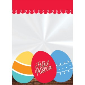 Saco Transparente Decorado 11x19,5cm Páscoa Adoleta - 50 unidades - Cromus Páscoa - Rizzo Embalagens