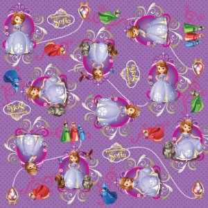 Folha para Ovos de Páscoa Reino de Sofia 69x89cm - 05 unidades - Cromus Páscoa - Rizzo Embalagens